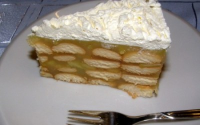 Jablkový nepečený dort