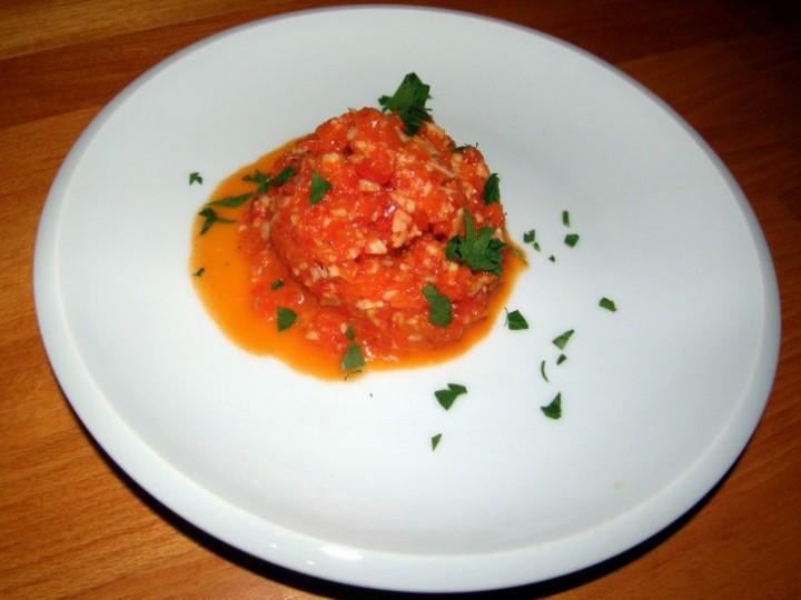 Pasta z pečených paprik